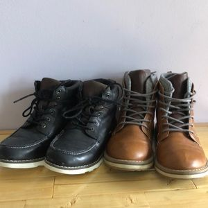 2 pairs of old navy kids boots